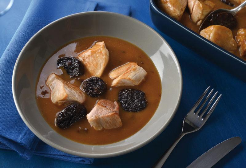 Sauté de porc aux pruneaux d'Agen cuisinés au Porto