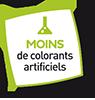 Picto Moins de colorants artificiels