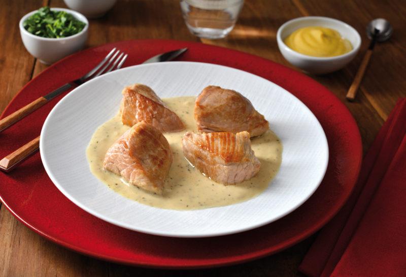 Porc fermier de l'Argoat à la moutarde et à l'estragon