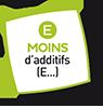 Picto Moins d'additifs (E...)